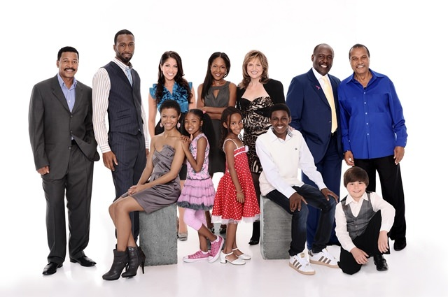 Robert Townsend & the cast of  Diary of a Single Mom