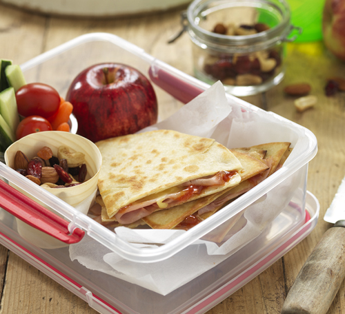 CHEESE & HAM LUNCHBOX QUESADILLAS