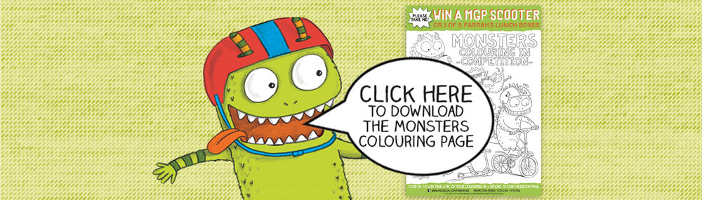 Click here to download the Monster's colouring in page