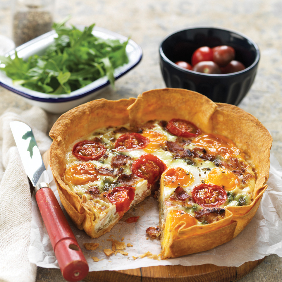 BACON & EGG QUICHE