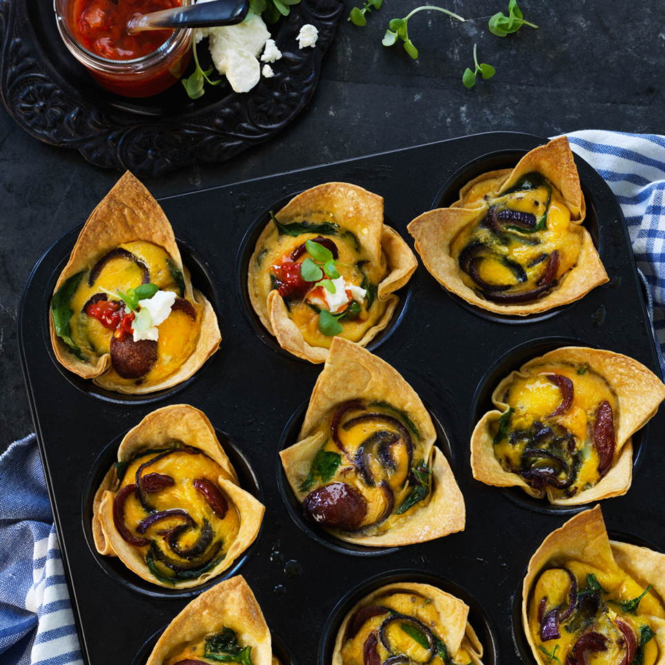 CHORIZO & SPINACH MINI QUICHES