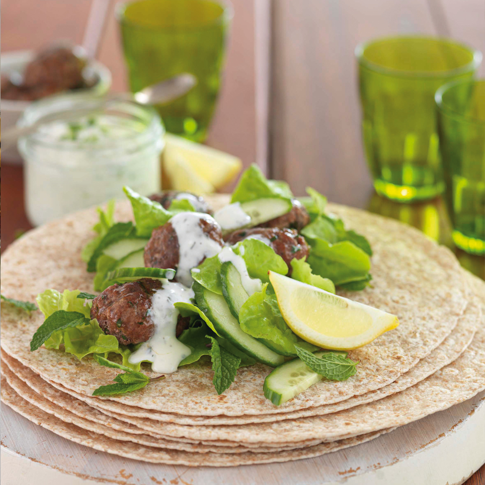 SPICY LAMB KOFTA WITH TZATZIKI