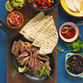 ACHIOTE STEAK FAJITAS