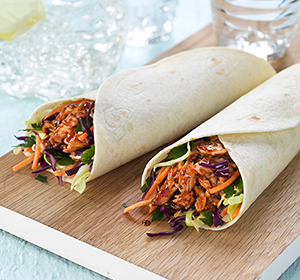 PULLED PORK & CRUNCHY SLAW WRAPS