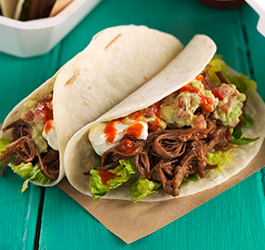 SMOKEY PULLED BEEF TACOS