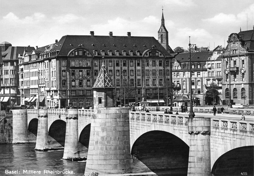 Mittlere Rheinbrücke, 1920