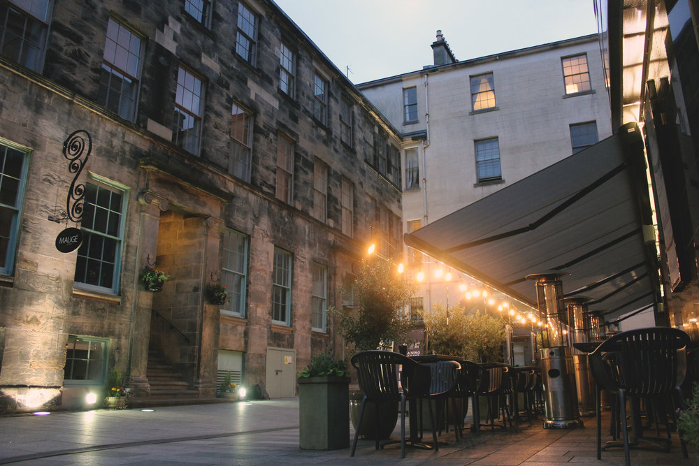 Gin71 Merchant city   A beautiful courtyard setting in the heart of Glasgow   Learn More