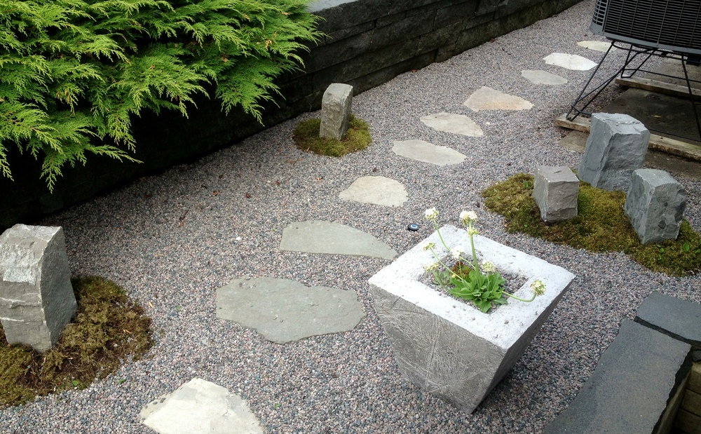 Repairing a dark, wet utility area using in-house constructed hypertufa troughs with a zen feel.jpg