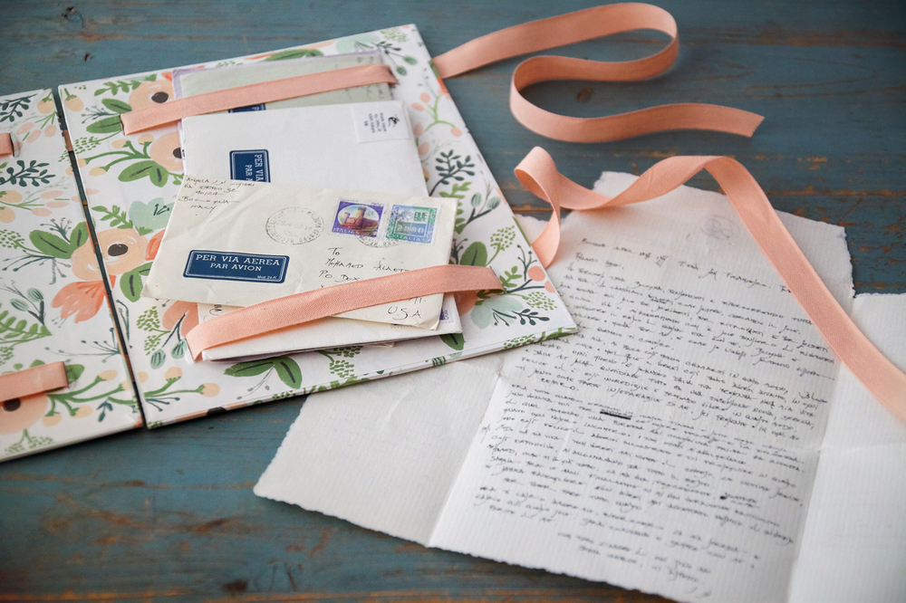 I use my keepsake books to house treasured correspondence from loved ones.