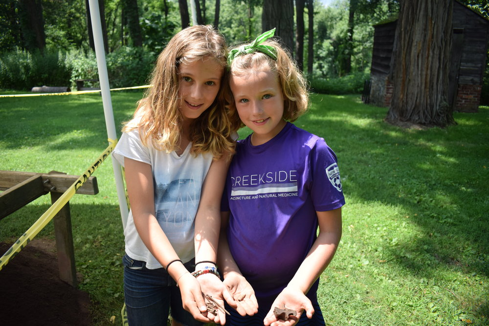 Camp Huguenot archeaologists in training
