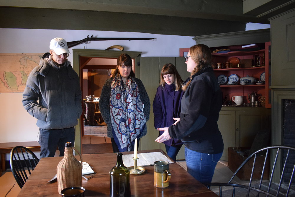 College interns tour the Jean Hasbrouck House