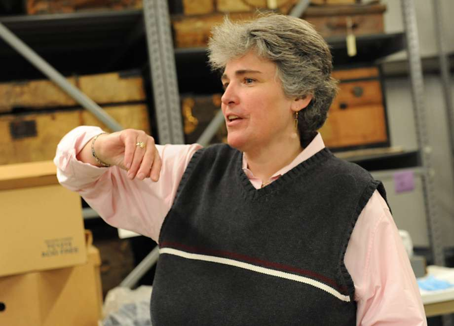 Liselle LaFrance in the Historic Cherry Hill Edward Frisbee Center for Collections &  Research on Friday Dec. 14, 2012, in Albany, N.Y. (Lori Van Buren / Times Union)