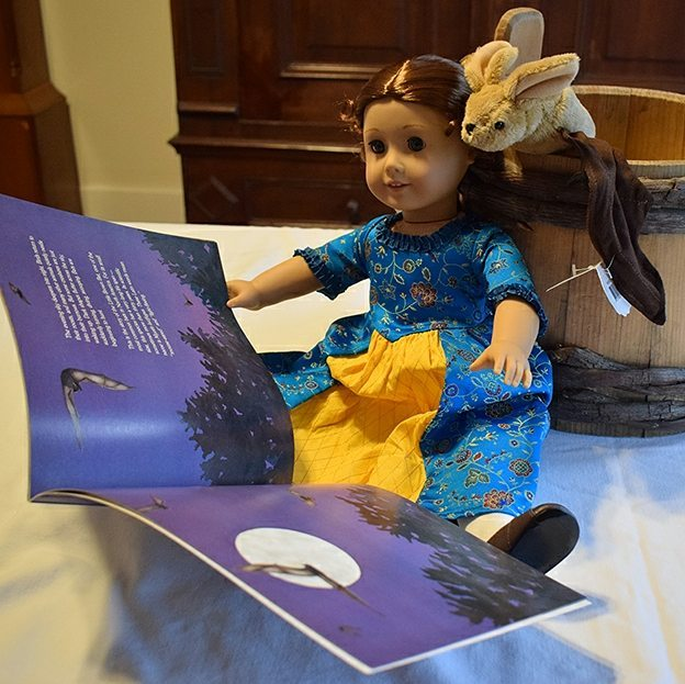 Join @huguenotstreet this Saturday for Tea Time with Barbara Bash, author and illustrator of Shadows of Night: The Hidden World of the Little Brown Bat! Illustrate your own #HuguenotStreet mascot and bring it to the event for a chance to win your very own Archie the #Archives Bat plush toy! 🦇 There will even be a raffle to win a Felicity Merriman @americangirlbrand doll. Register now at huguenotstreet.org/teatime! #NewPaltz #brownbat