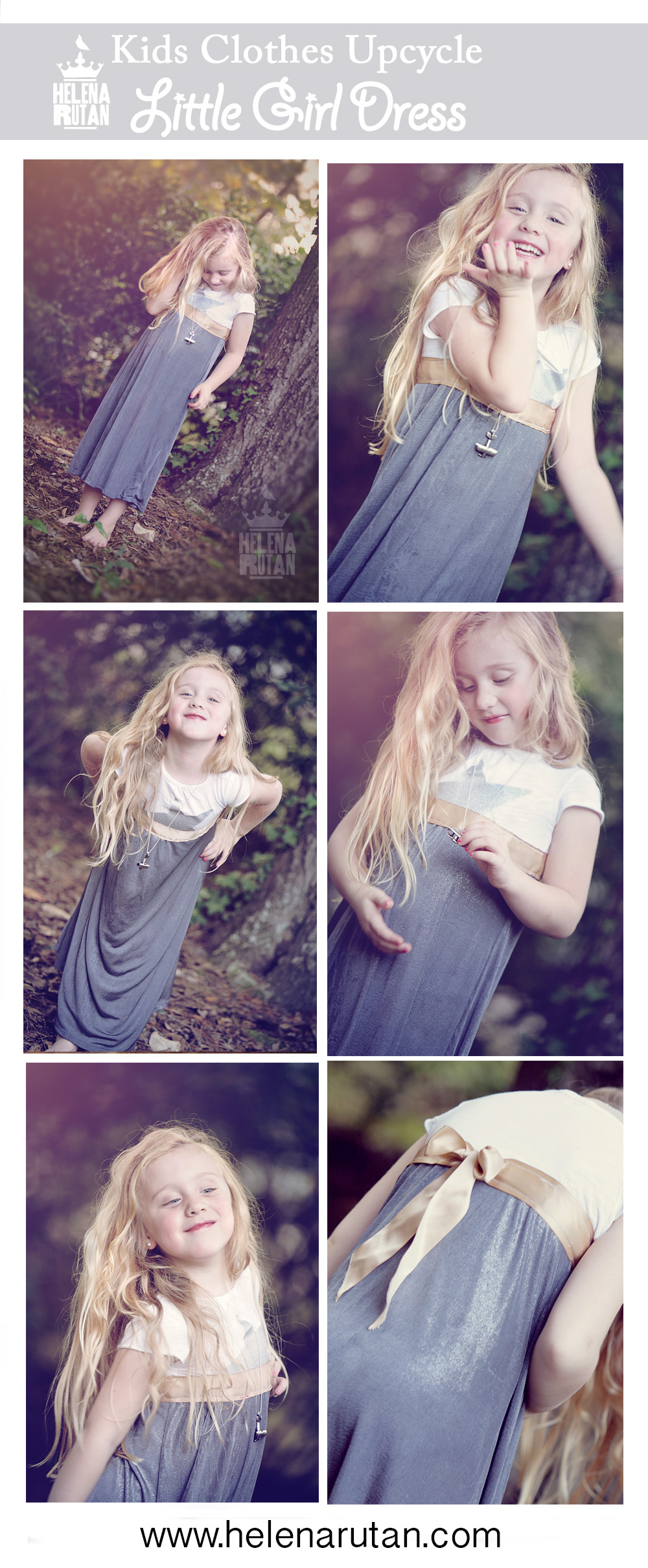 upcycle kids dress, Helena Rutan