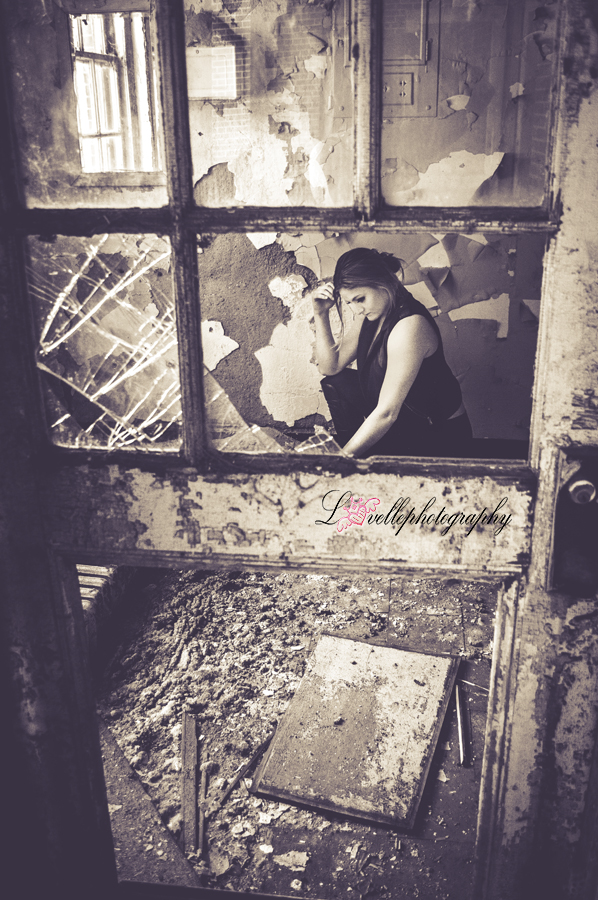 broken glass- model-vintage edit