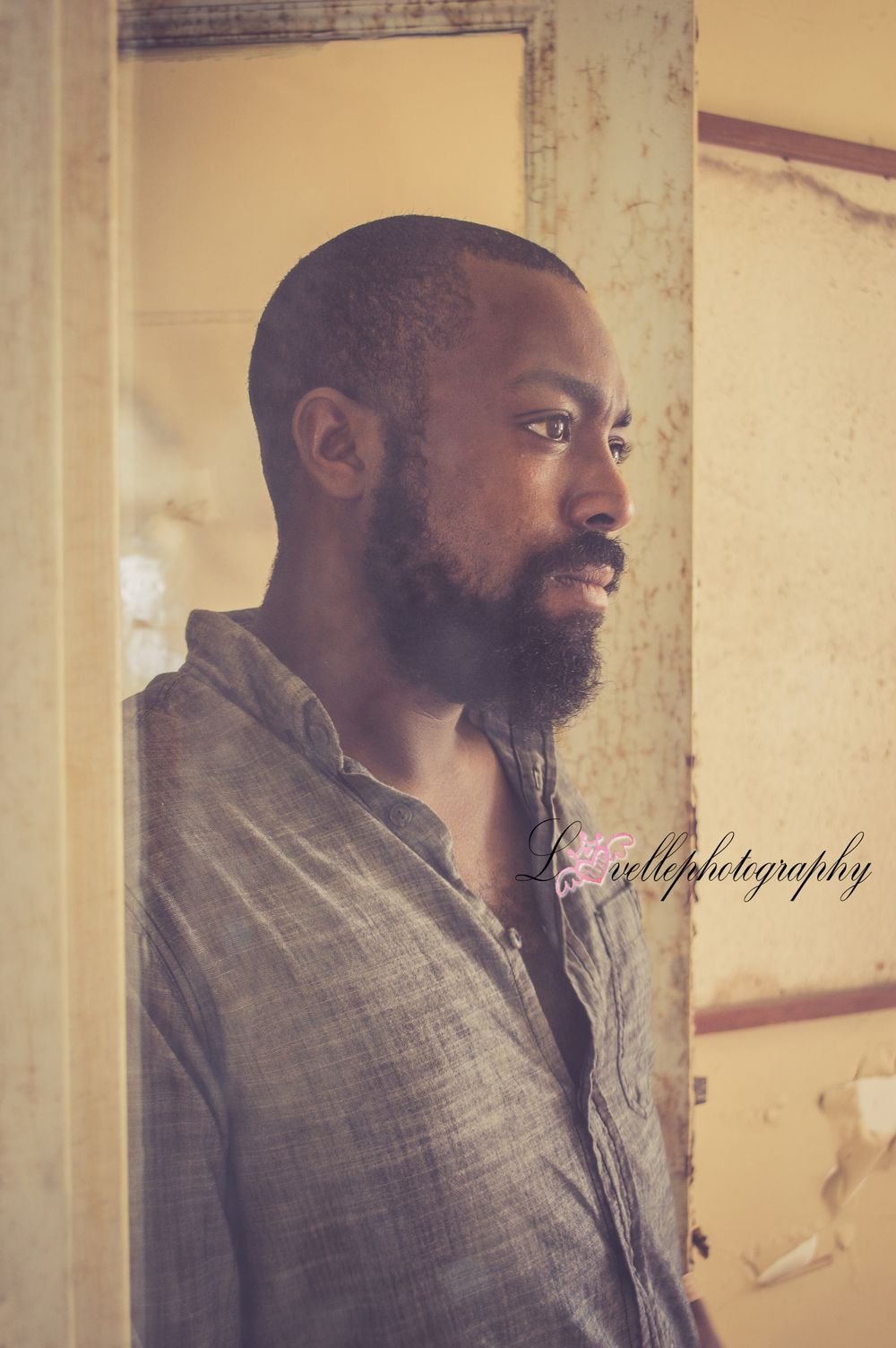 black man- model- deep thought