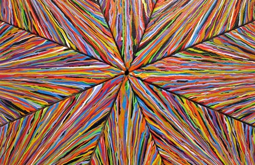 "Rick Siggins, Big Boy, 2011, acrylic on 150 individually stretched canvases, 112 x 112"" (detail)"