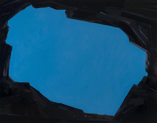 Claire Sherman, Sky, 2014, oil on canvas, 66 x 84 inches