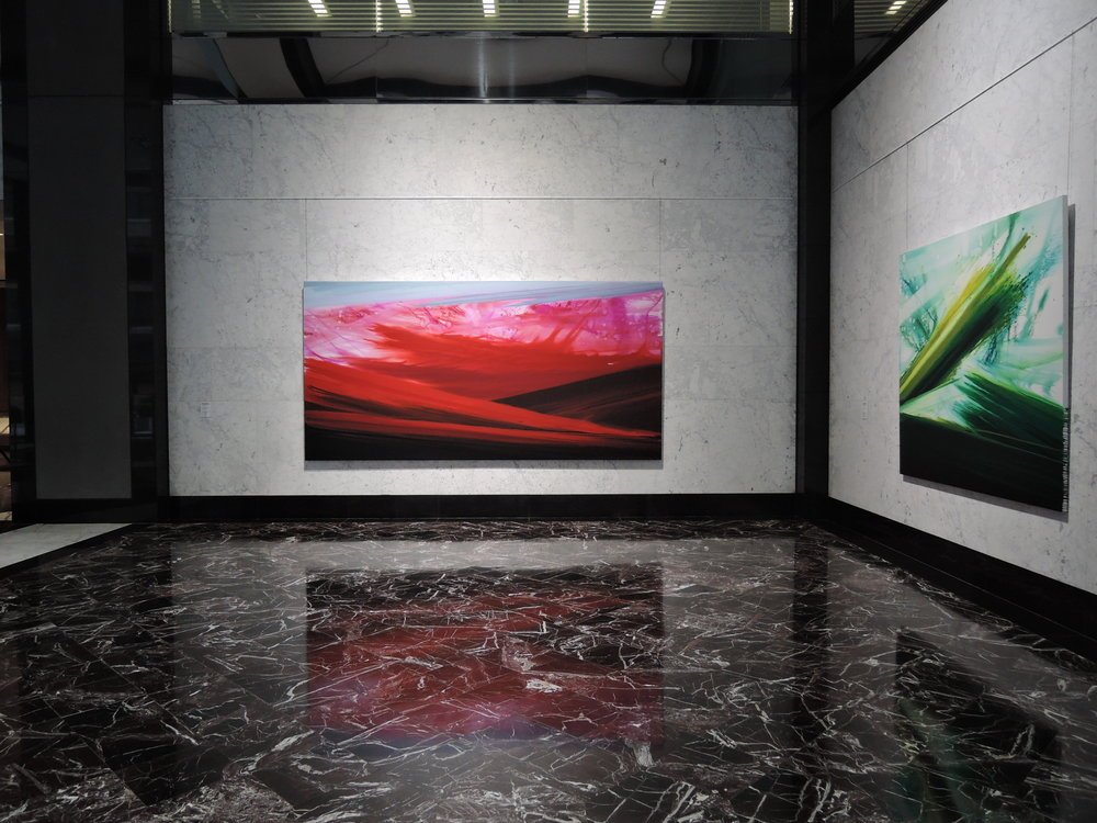 Flooded Paintings  installed at 375 Hudson Street