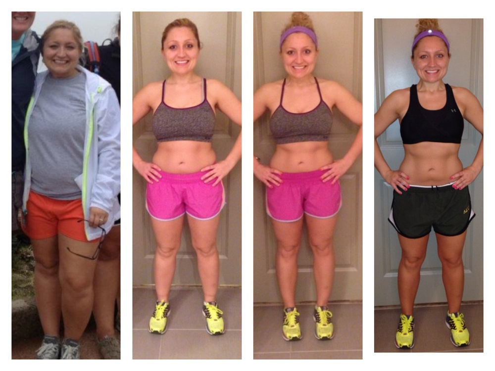 Photo 1: June 2012. Photo 2: Start of Insanity February 2014. Photo 3: 1/2 way done with Insanity, end of February. Photo 4: End of Insanity, March 2014.