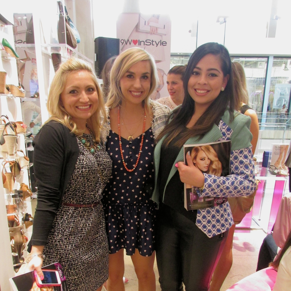 Yesenia and I with Catherine from Nine West Corporate!
