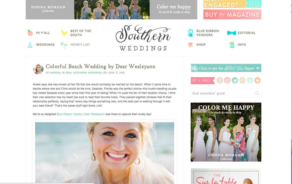 Click the image to visit Southern Wedding's blog!