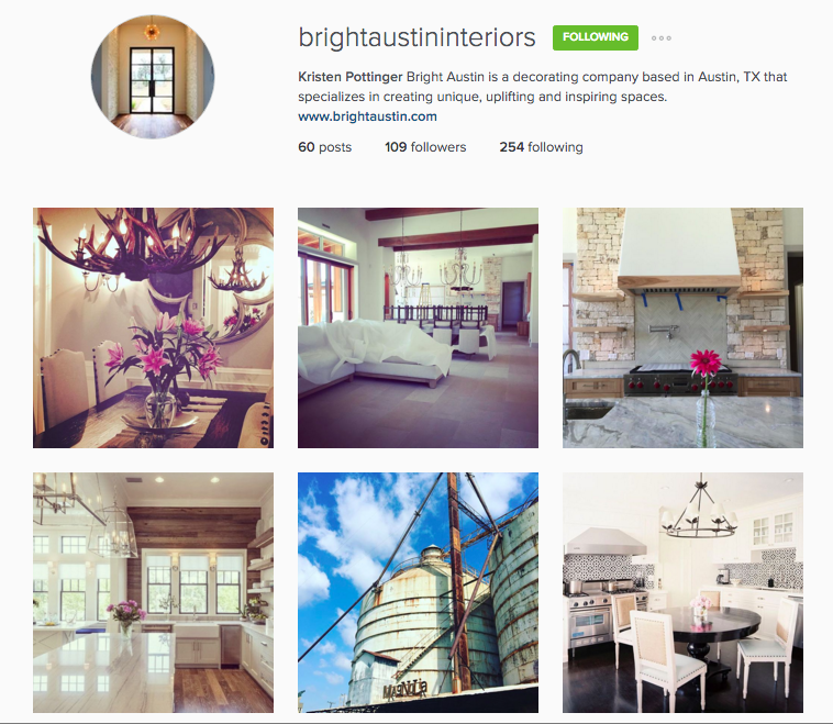 Be sure to check out Kristen's Insta account to stay up to date on her latest projects - including ours!  http://instagram.com/brightaustininteriors