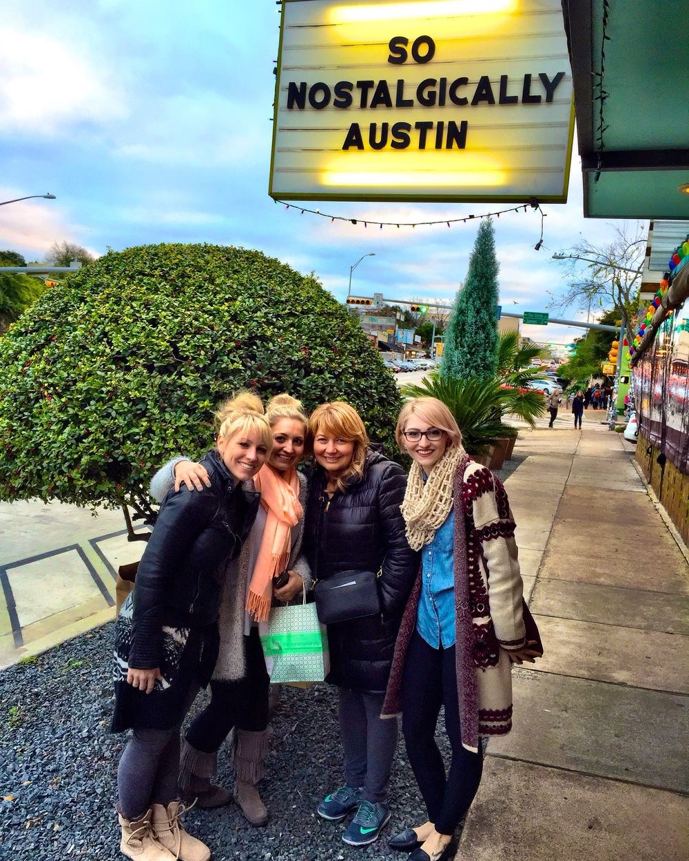 After the Trail of Lights ended, I took my family around ATX. This photo was taken on a girls shopping day on SoCo.