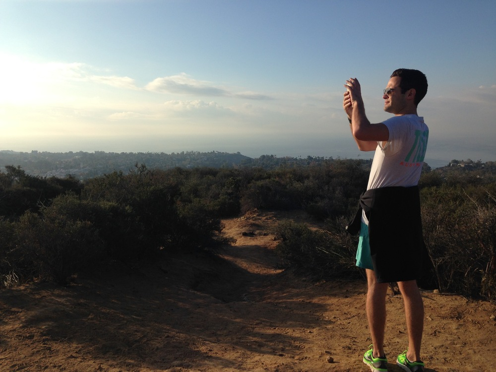 We went on a hike in Santa Monica - the sky, hills and ocean went on for miles. Incredible views.