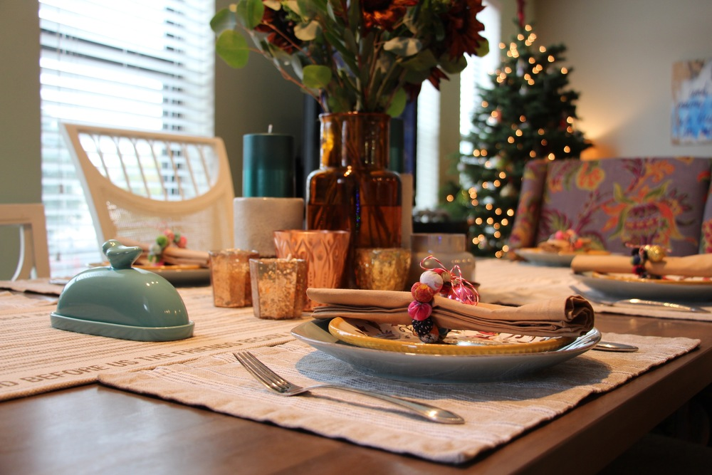 2015 was the first year we hosted family Thanksgiving at our house with our new RH table!