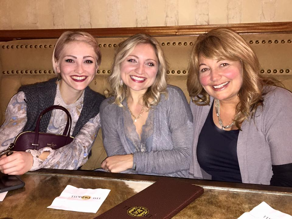 A pic of my baby sister Kallie, my mom and I having drinks at the Driskill