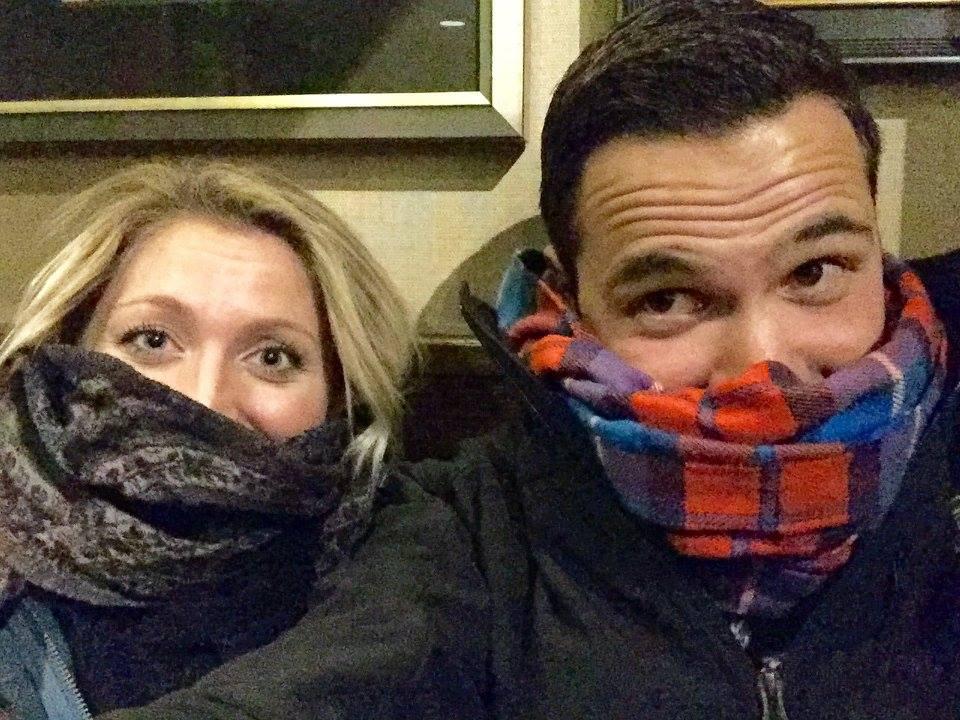 Us freezing in Newport, again. ha!