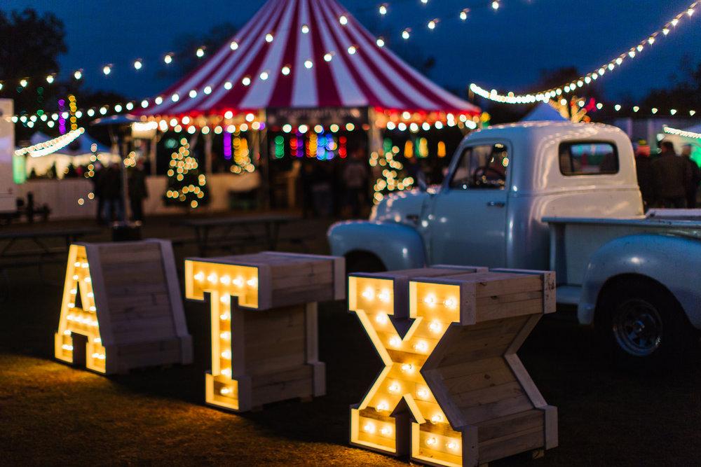 Photos by  Kyle Barnes  &  Dear Wesleyann Photography , Courtesy of  Austin Trail of Lights