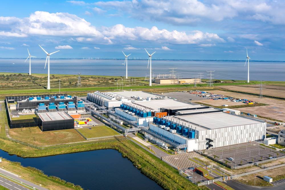 Google's data center in Eemshaven, The Netherlands.