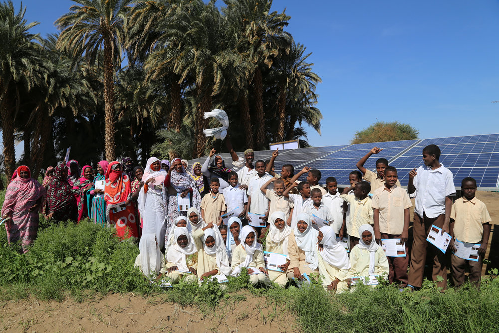 United Nations Development Program is implementing a solar water pumps project for irrigation in north of Sudan