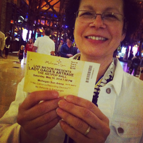 Look, ma! A Lady Gaga ticket!