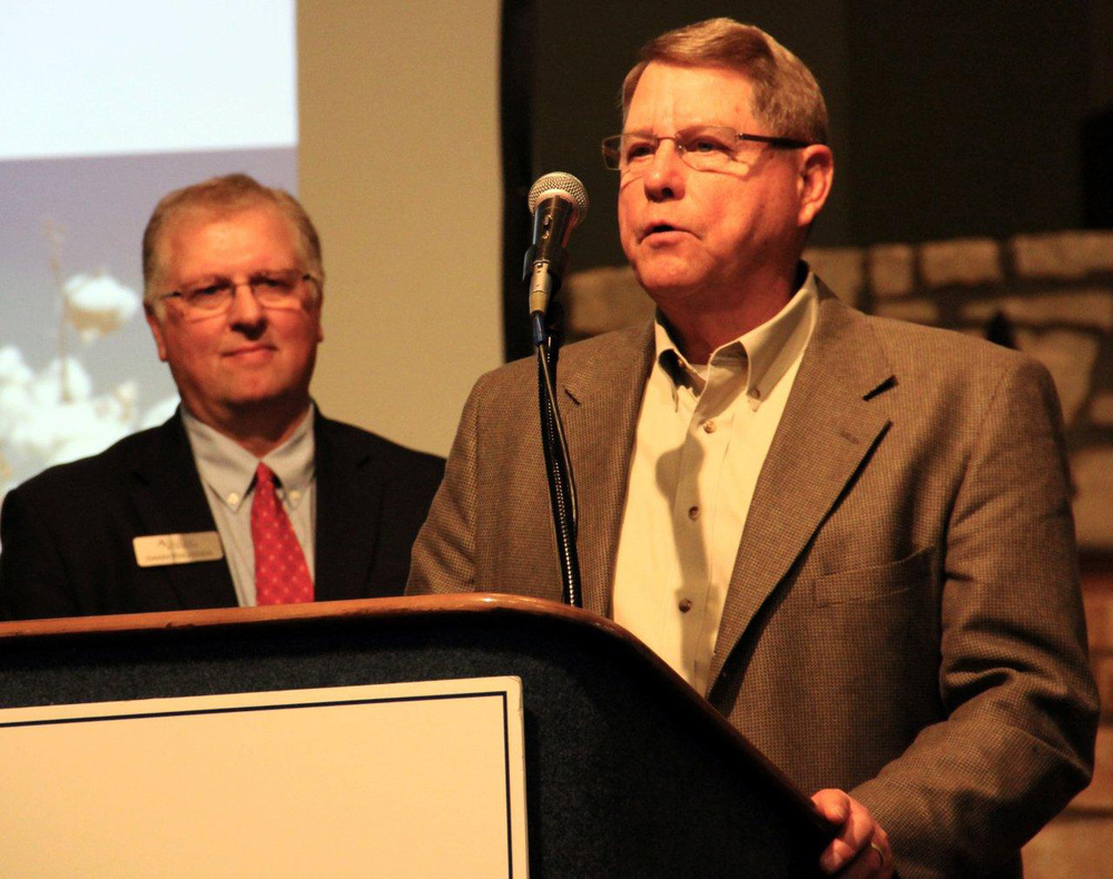 Eddie Teeter accepts the first place Blue Legacy Award in Agriculture December 4.