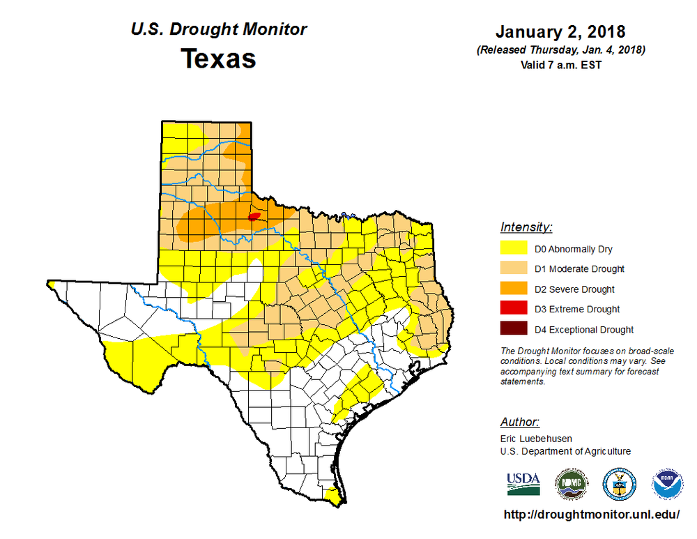 Source:  droughtmonitor.unl.edu/CurrentMap/StateDroughtMonitor.aspx?TX
