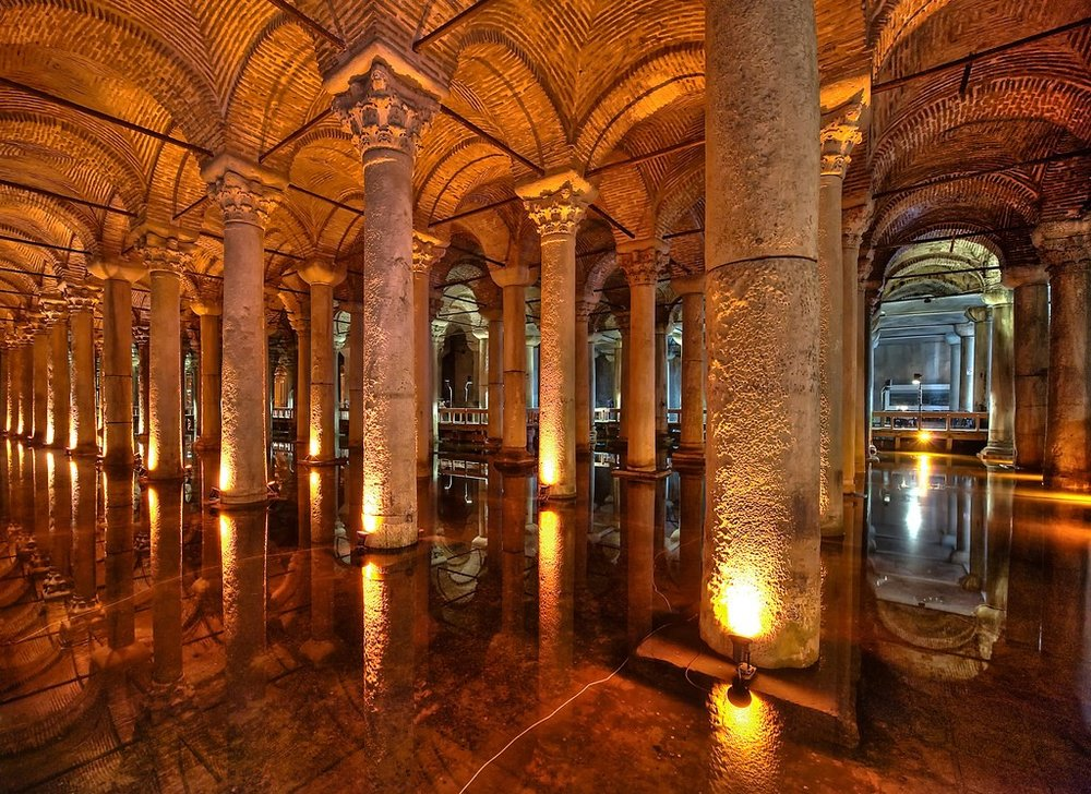 Inside the Basilica Cistern  by Clint Koehler 2010