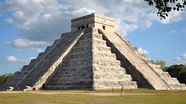 Mayan Pyramid built before the collapse of the Classic Maya Civilization; Source:  www.ncdc.noaa.gov