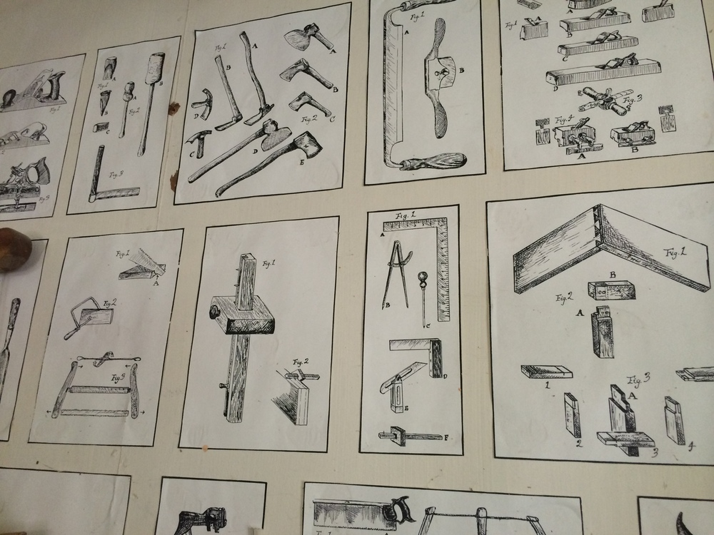 Cullen's drawings in his shop