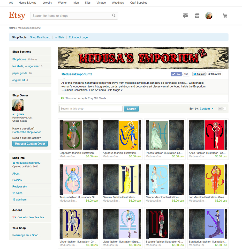 Medusa's Emporium 2 on Etsy