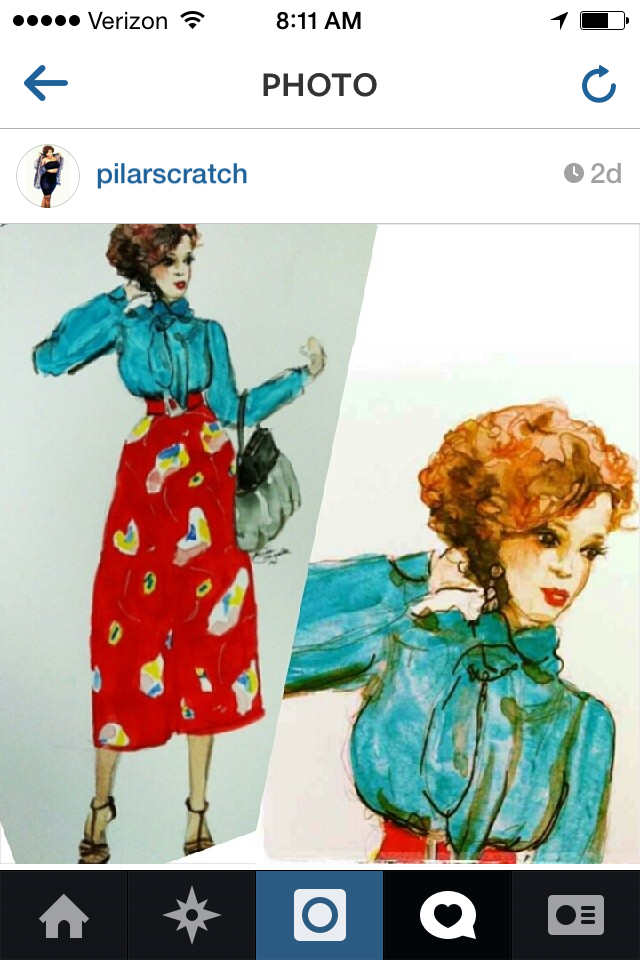 A fashion likeness I did for Stylist blogger Pilar Scratch--A very fun project.