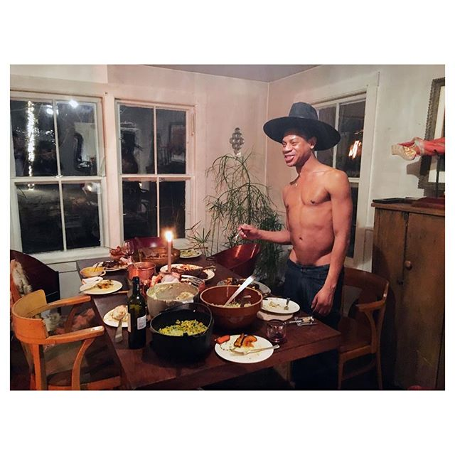 TELFAR COUNTRY. @telfarglobal serving @that_old_farmhouse for @kaleidoscopemagazine #telfar