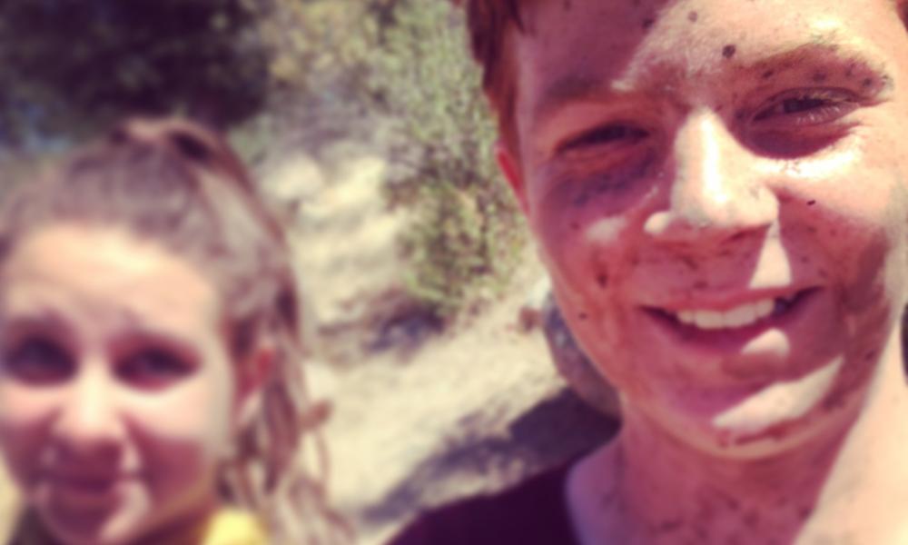 Getting muddy at summer camp