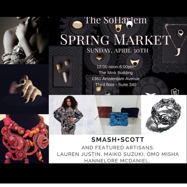 I will be selling some fresh @smashandscott clothes today at the @soharleminc spring market event 🌸🌸🌸We will be previewing our summer capsule collection AND I will also have some of my small collage artworks on display! Come by if your in the area this afternoon or even if your in BK! 🌸🌸🌸🌸 have some prosecco 🍾 and hang with me! I'll be here till 6