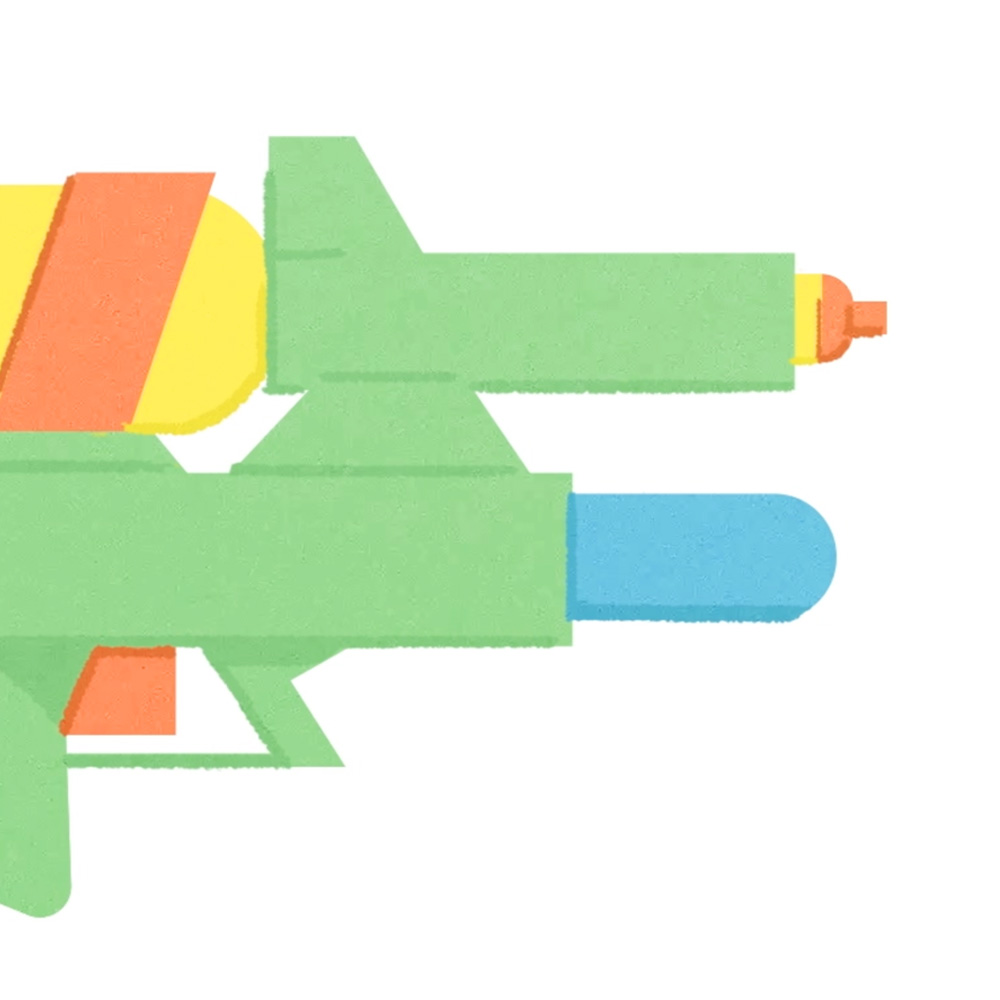 The Evolution of a Water Gun