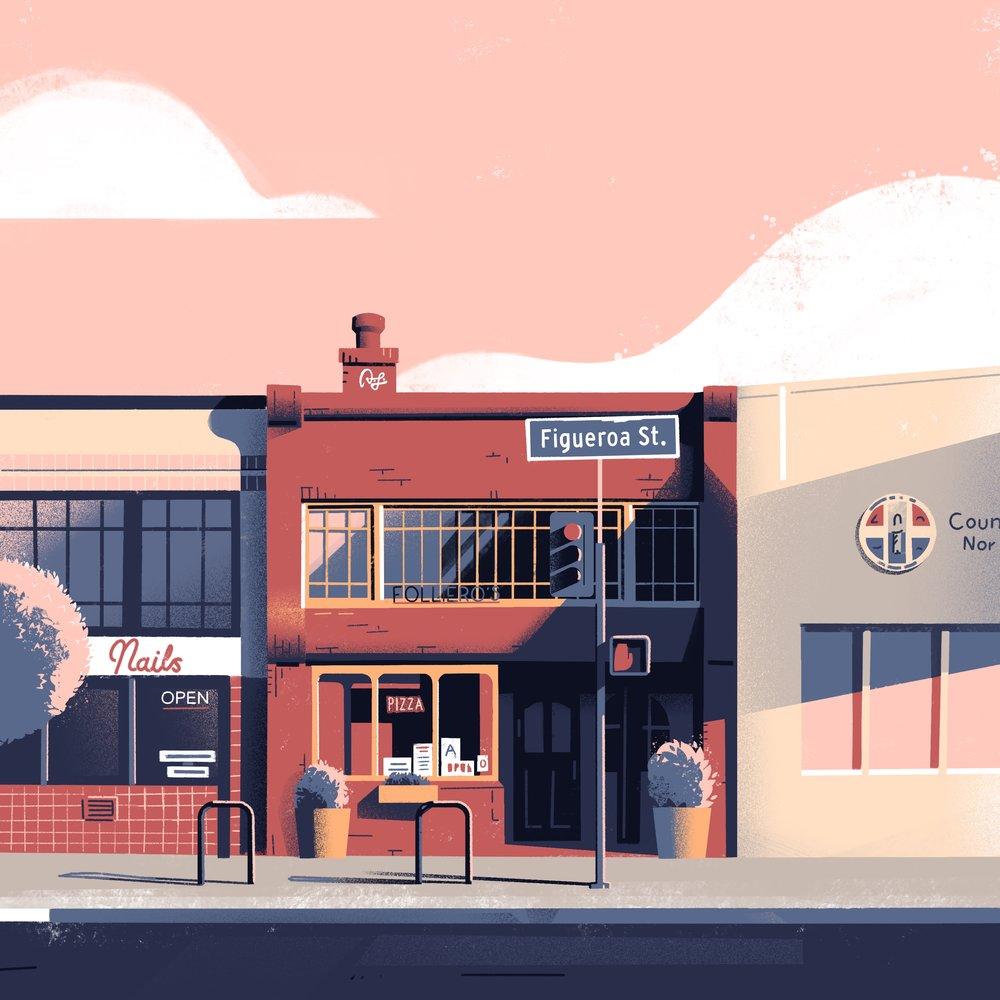 Folliero's Pizza • Highland Park, Los Angeles, CA