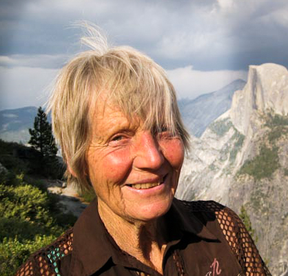 Dagmar, my dear mother in Yosemite - Loving life!