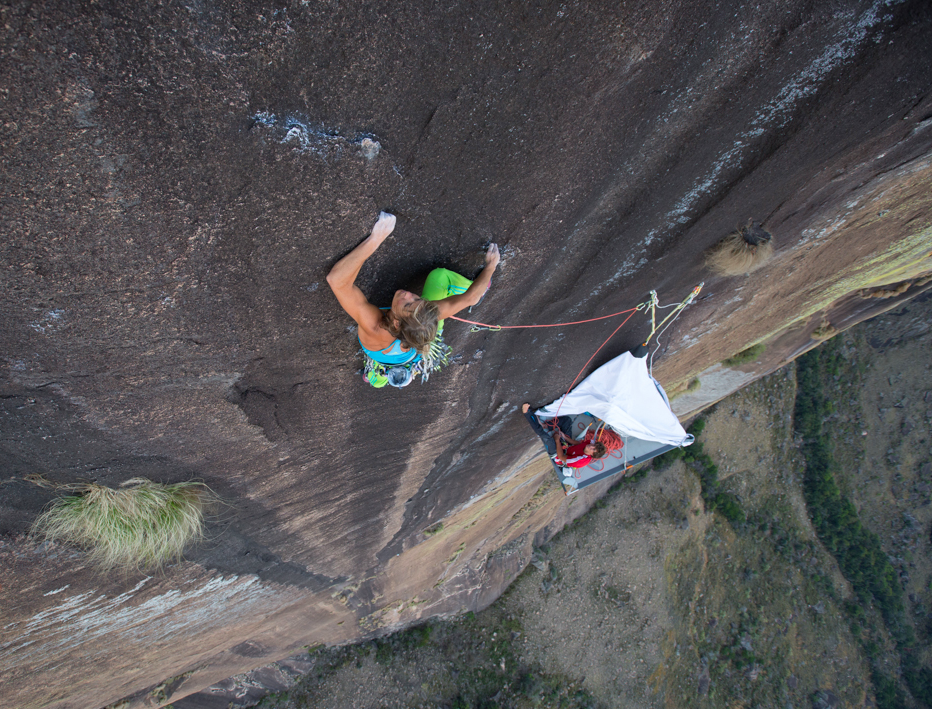 Climbing out of our home on the wall. Photo: Andrew Burr